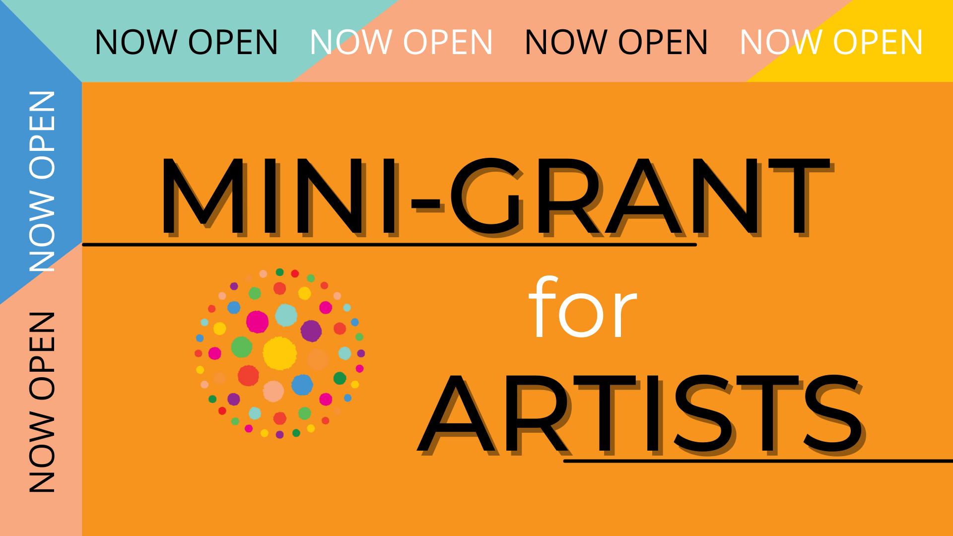 Mini Grant for Artists