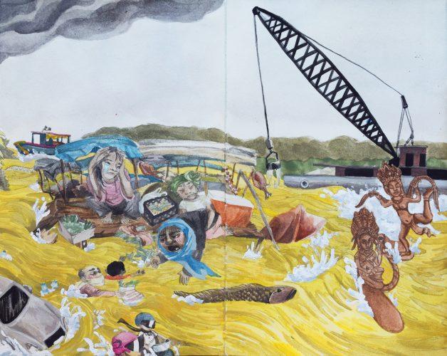 """Kim Sweeney • """"The Flood"""" • Panel #4"""